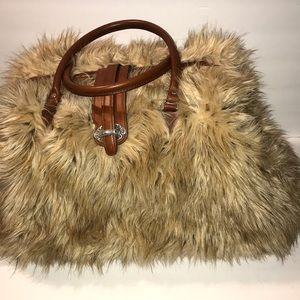 Handbags - NWOT - Faux Fur Overnight Bag